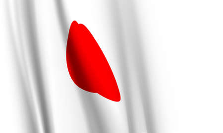 Vector -  Illustration of  Flag of Japan