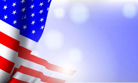 Vector -  Illustration of  United States of America flag Illustration