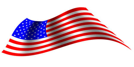 Vector -  Illustration of United States of America flag with  Fabric texture