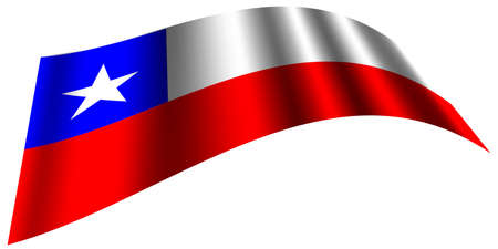 Vector -  Illustration of Chile flag