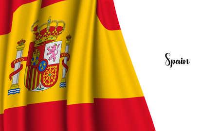 Vector -  Illustration of Spain flag on white background Illustration