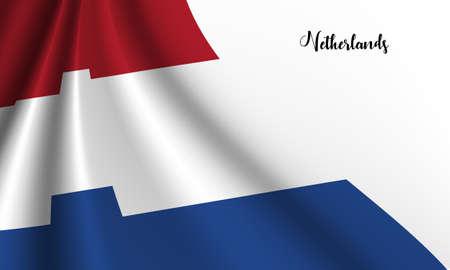Vector -  Illustration of The Netherlands flag on white background