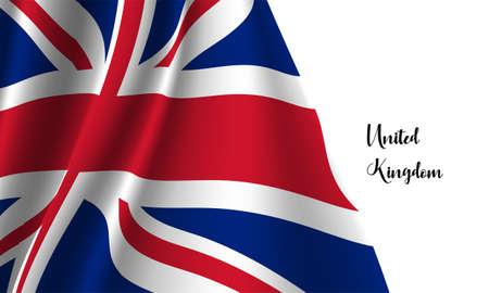 Vector -  Illustration of  The United Kingdom flag  on white background