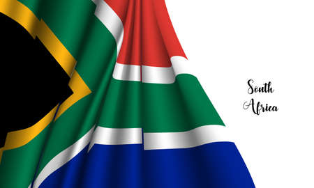 Vector -  Illustration of  South africa flag on white background