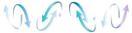 Vector illustration Set of ribbon arrow