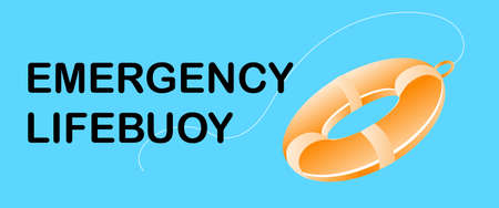 Vector illustration,Emergency Lifebuoy Symbol Sign on banner background Illustration