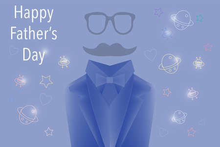 Happy father's-day space background