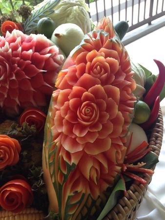 papaya flower: Rose on papaya