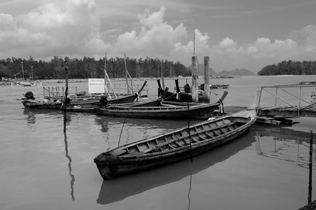 long tail: long tail boat Stock Photo