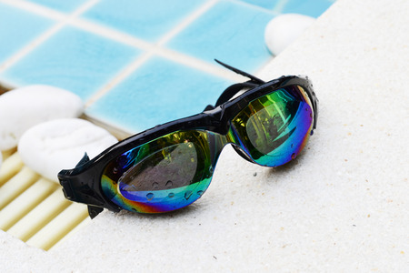 water sports: swimming goggles