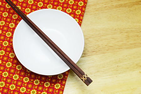 chop stick: ceramic blow on Thai style table
