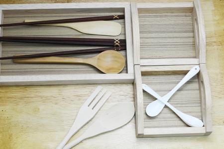 keuken: wooden kitchen Stockfoto