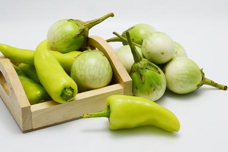 capsicum plant: green pepper Stock Photo