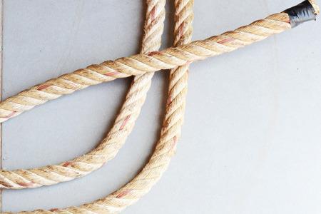 ahorcado: cuerda de cáñamo