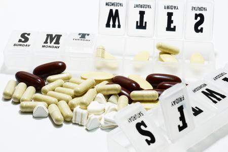 weekly: medicine and weekly medicine box