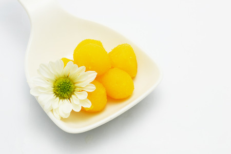 golden bean: Thai sweet dish Stock Photo