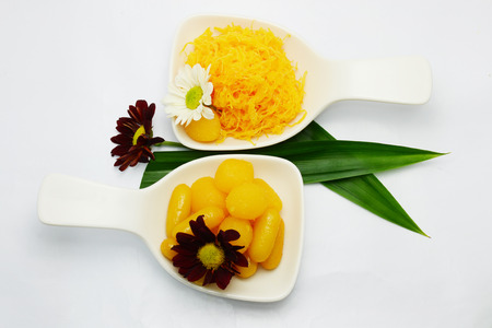 yoke: Thai sweet dessert Stock Photo