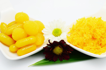golden bean: Thai sweet dessert Stock Photo
