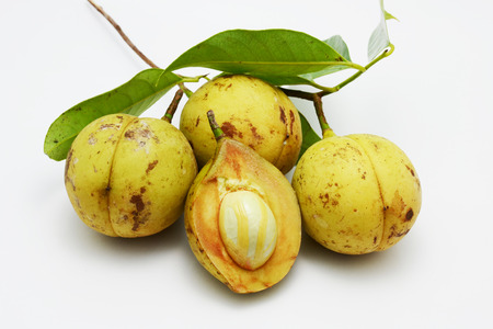 fresh nutmeg fruit Banque d'images