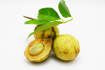 nutmeg: fresh nutmeg fruit Stock Photo