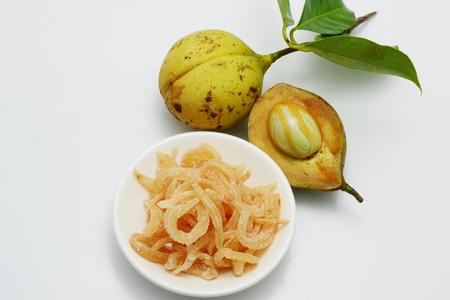 fresh nutmeg fruit Stock Photo