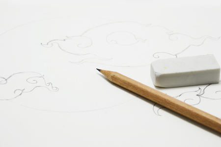 pencil drawing: color pencil for paint and drawing