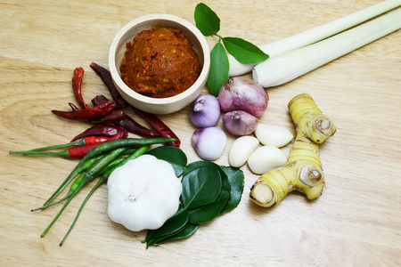 hot soup: Thai spice curry and hot soup Stock Photo