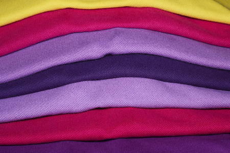cotton fabric: color of fabric for t shirt Stock Photo