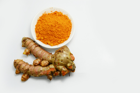 turmeric: turmeric and powder Stock Photo