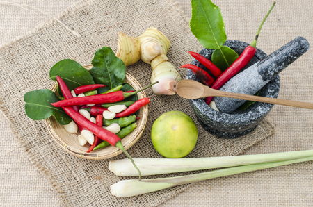 Thai spice herb and cooking recipe