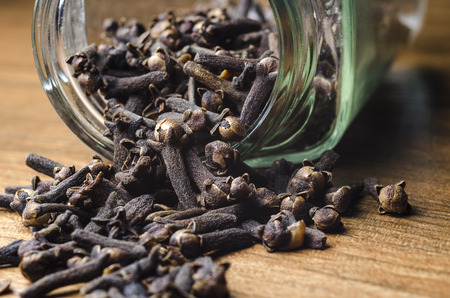 clove and spice food seasoning Stock Photo