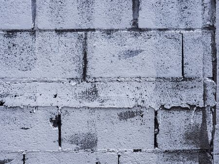 Brick wall dirty paint with white color background and shap texture