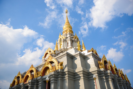 doi: Srinakarin Pagoda at Doi Mae salong, Chaingrai,Thailand Stock Photo