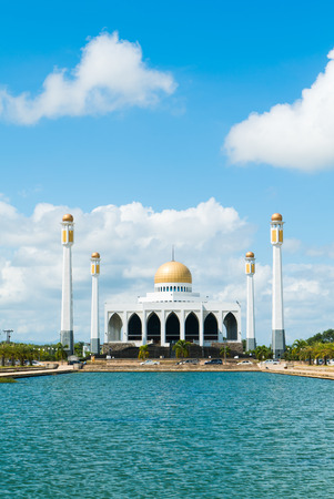 southern thailand: Mosque with the pond in foreground