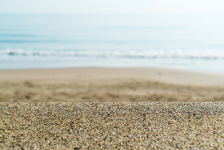coping: Coping of stone wall with sea and beach blur in background in Prachuap Khiri Khan province, Thailand