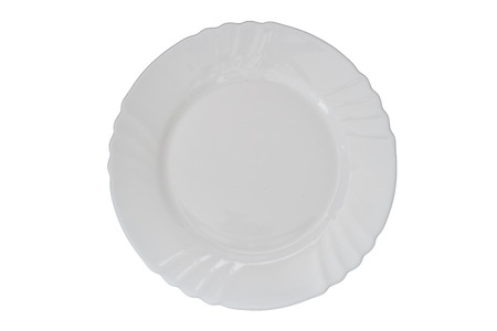 plate: empty plate isolated white background