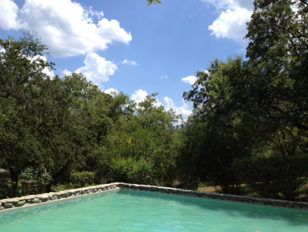 mexican pool and sky scenery