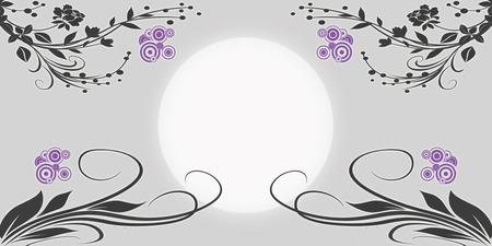 silhouete: beautiful swirl silhouete in the fullmoon time