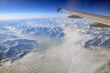 Over Alps Stock Photo - 9340976