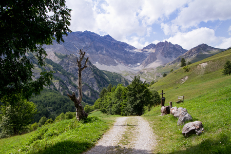 bardonecchia: mountain path in Piedmont alps, Italy Stock Photo