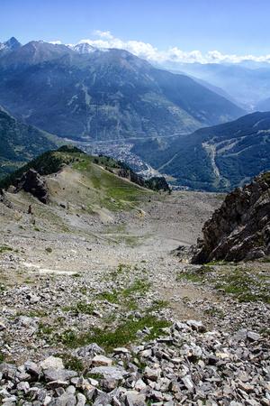 bardonecchia: view of Bardonecchia valley, Italy