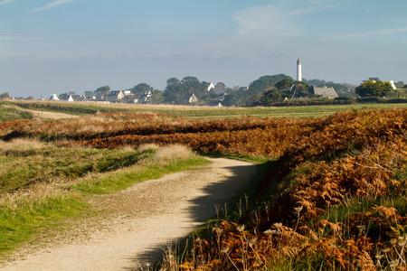 bretagne: Typical autumn landscape in the Finistere, Bretagne - France