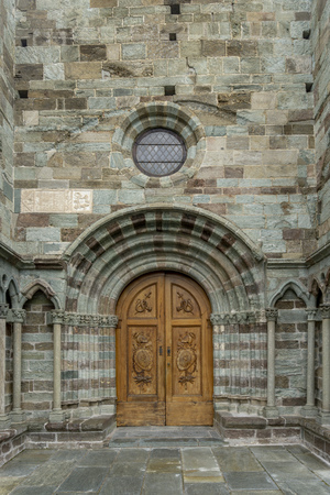The Church door of the The Sacra di San Michele, also known as Saint Michaels Abbey, is a religious complex on Mount Pirchiriano, situated on the south side of the Val di Susa, Italy