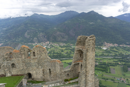 Susa valley viewed from Sacra di San Michele of Piedmont, Italy