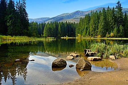 Vrbicke pleso (Vrbicke mountain lake) Low Tatras Slovakia Stock Photo