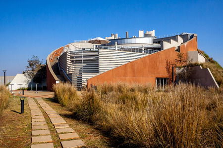 gauteng: Description: Maropeng Tumulus Building, Maropeng Exhibition Centre,  in Gauteng South Africa, Maropeng, Mogale, 1911, South Africa. June 1st 2010.