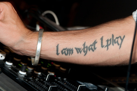 tattoed: Musician forearm with tattoo