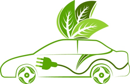 Illustration art of a leaf car with isolated background  Vector