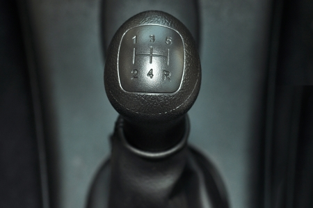 A manual shift car gear lever photo