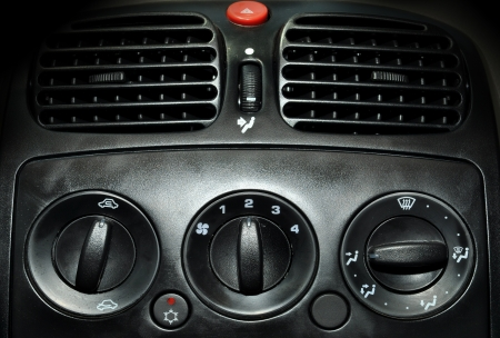 cooling system: inside air conditioner unit in the car